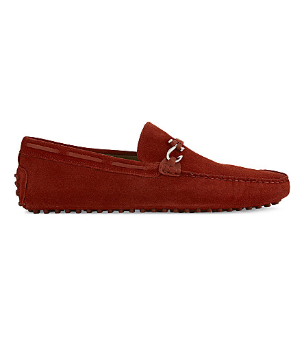 ALDO Roxbury suede loafers (Red+suede