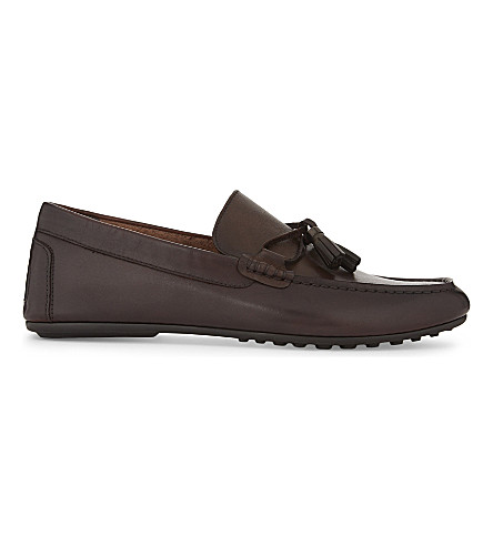 ALDO Freinia leather loafers (Dark+brown