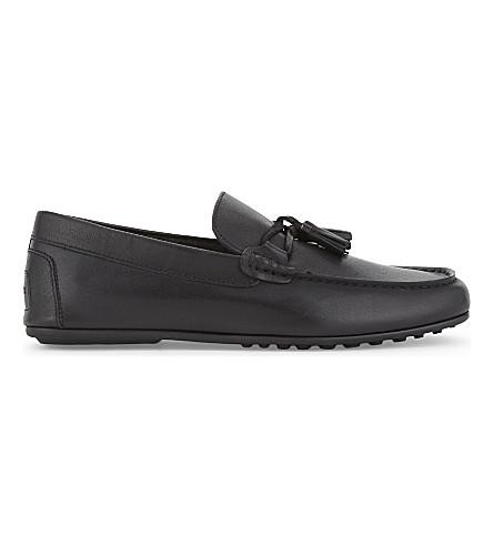 ALDO Freinia 皮革便鞋 (黑色 + 皮革