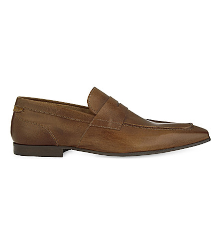 ALDO Cuthheard leather loafers (Cognac