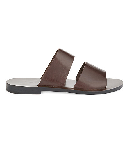 ALDO Priour leather sandals (Dark+brown