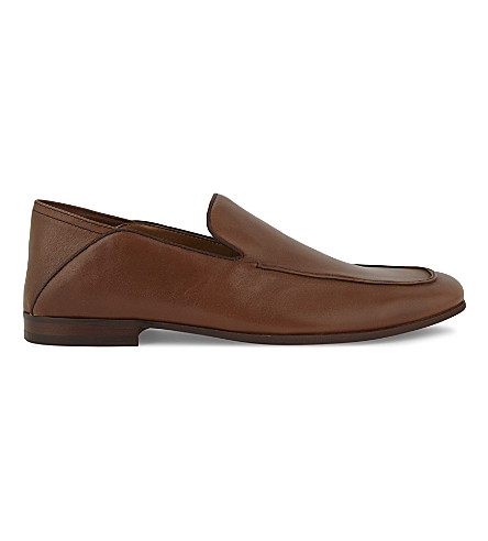 ALDO Watford crush-back leather loafer (Cognac