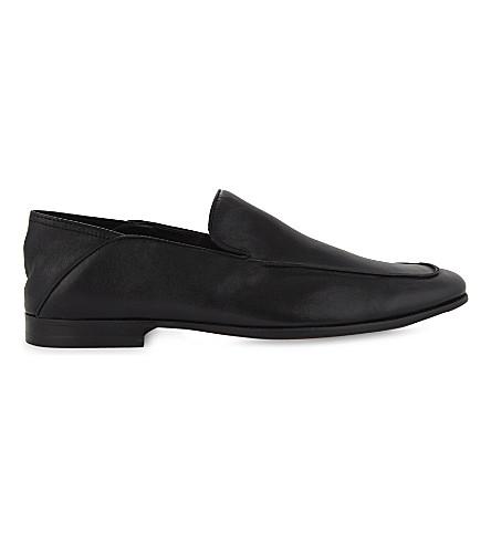 ALDO Watford crush-back leather loafer (Black+leather