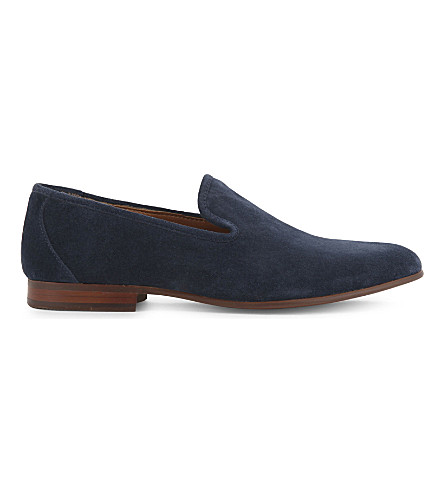 ALDO Areawen suede loafers (Navy+suede