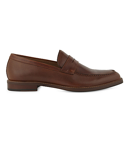 ALDO Vial leather loafers (Light+brown