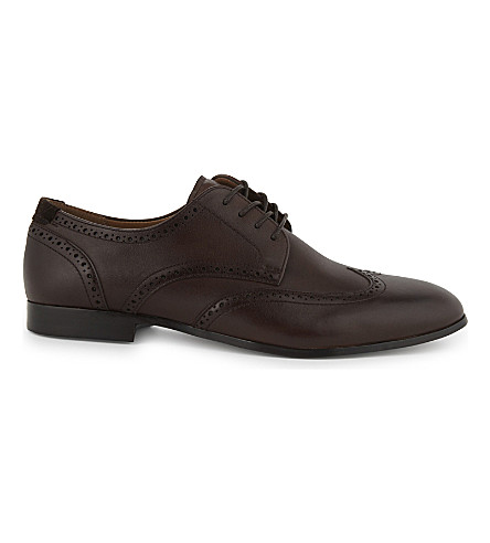 ALDO Macario leather derby shoes (Dark+brown