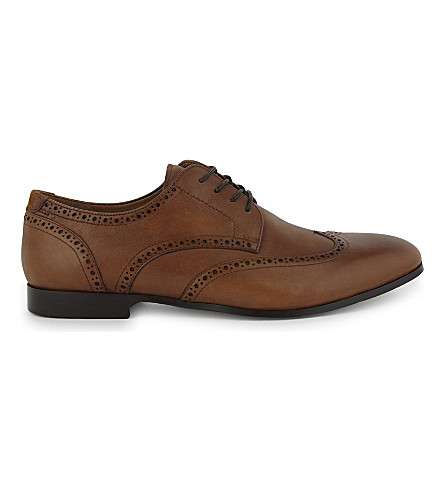 ALDO Macario leather derby shoes (Cognac