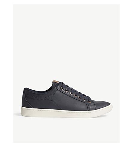 ALDO Sigrun leather trainers (Navy