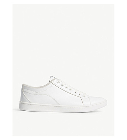 ALDO Sigrun-R leather lace-up trainers (White