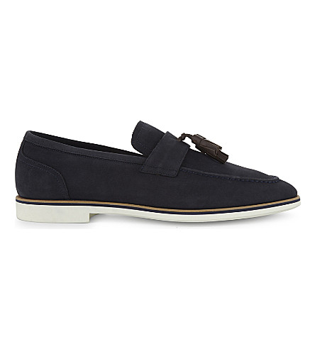 ALDO Harailt nubuck leather loafers (Navy