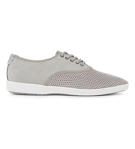ALDO Lizzi lace-up plimsols (Grey