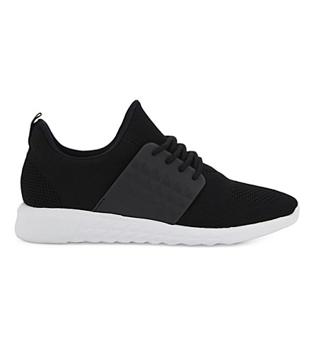 ALDO Mx.0 mesh lace-up trainers (Black+leather