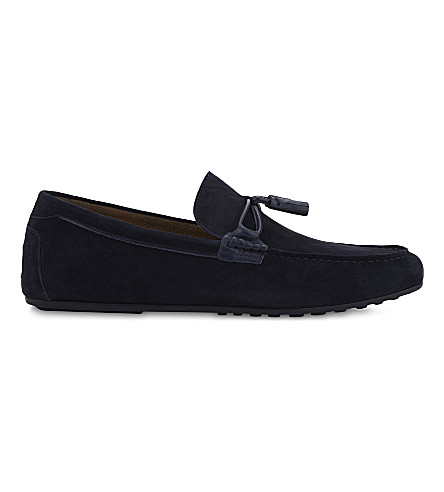 ALDO Lovewien suede loafers (Navy+suede
