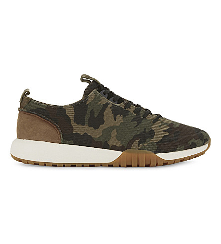 ALDO Relle camouflage print trainers (Forest+green
