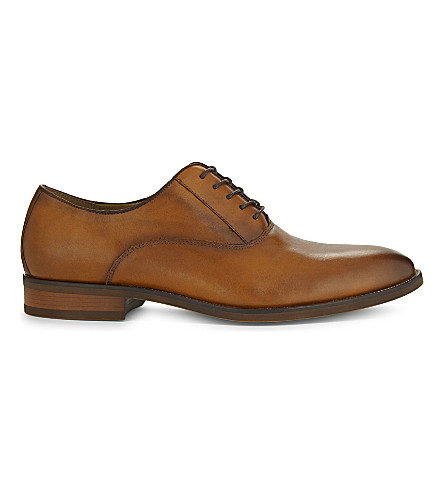 Cognac ALDO Aselan leather Oxford shoes Stylish Casual Shop