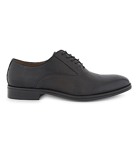 ALDO Eloie suede Oxford shoes (Black+leather