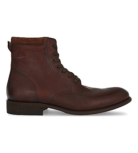 ALDO Derrian leather ankle boots (Cognac