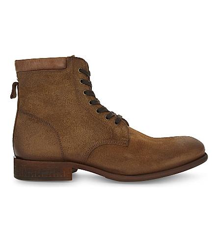 ALDO Derrian 皮革踝靴 (铁锈