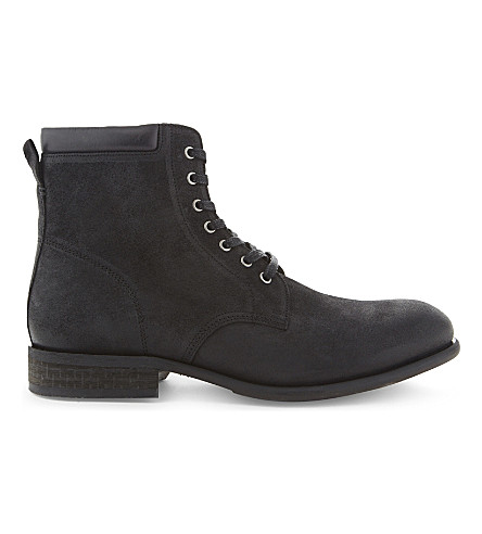 ALDO Derrian leather ankle boots (Black+leather