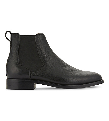 ALDO Gilmont grained leather Chelsea boots (Black+leather