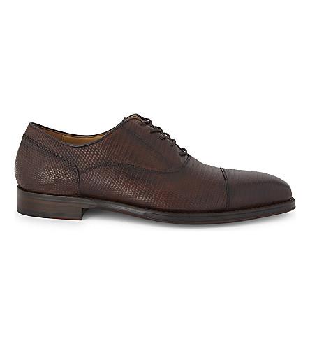 ALDO Alfrid leather oxford shoes (Cognac