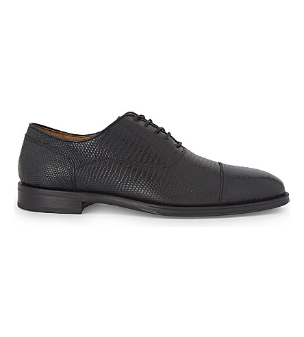 ALDO Alfrid leather oxford shoes (Black+leather