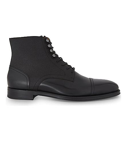 ALDO Semaj leather ankle boots (Dark+brown