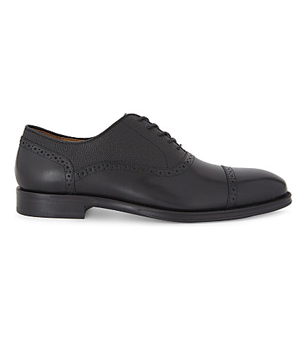 ALDO Galoenia leather oxford shoes (Black+leather