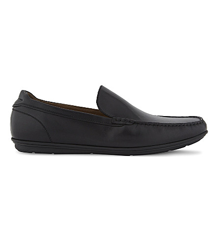 ALDO Kedigoni 皮革乐福鞋 (黑色 + 皮革