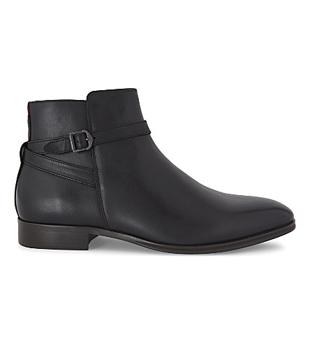ALDO Godeno leather ankle boots (Black+leather