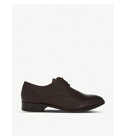 ALDO Lauriano leather Derby shoes (Dark+brown