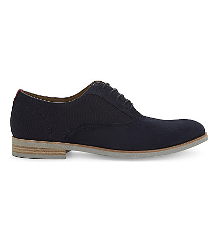 ALDO Elerasen suede Oxford shoes (Navy+suede