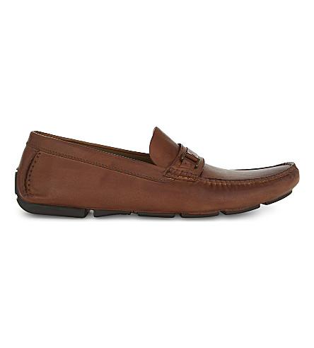 ALDO Akker leather loafers (Cognac