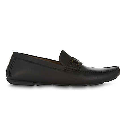 ALDO Akker leather loafers (Black+leather