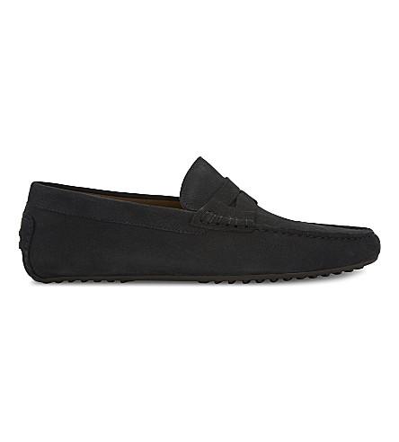 ALDO Gwiralian suede loafers (Navy+suede