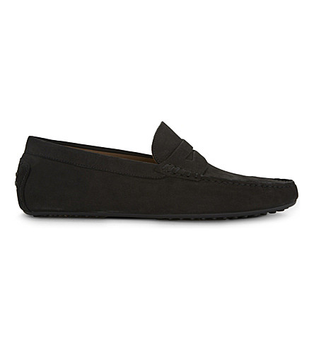 ALDO Gwiralian suede loafers (Black+nubuck