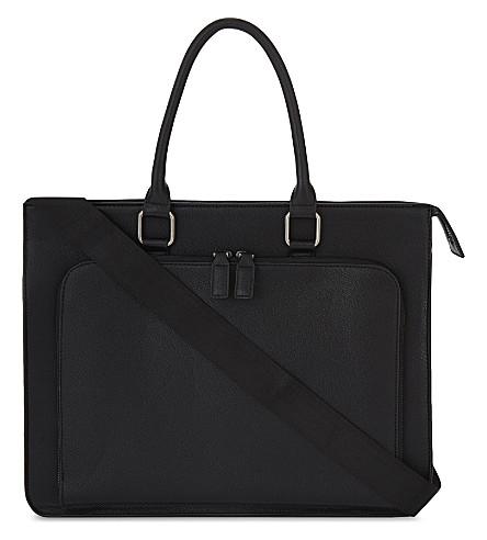 ALDO Breuson textured messenger bag (Black+leather