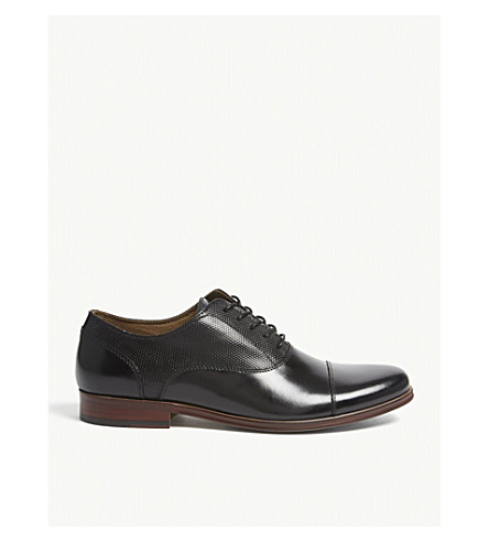 ALDO Marg perforated leather oxford shoes (Black+leather