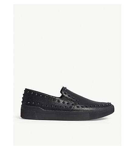 ALDO Zaclya faux-leather studded slip-on trainers (Black