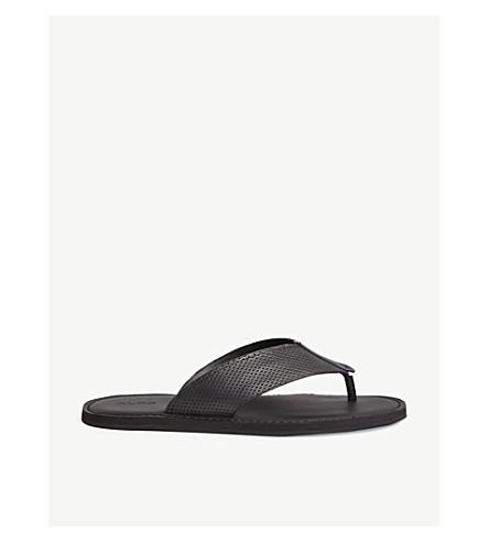 flip flops leather ALDO ALDO Ceastun perforated Ceastun perforated Black UvwBvq