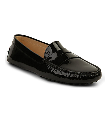 TODS Patent leather mocassins (Black