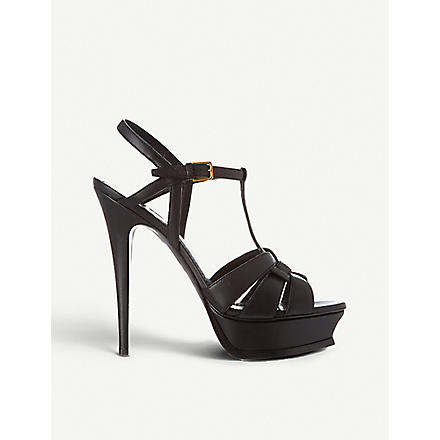 SAINT LAURENT Tribute 105 platform sandals (Black