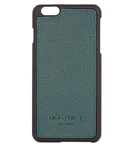 MON PURSE Signature leather iphone 6 plus case (Hunter+green