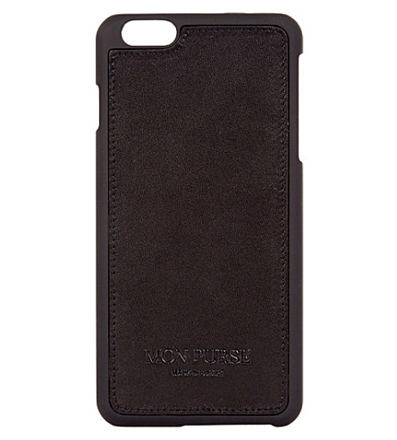 MON PURSE Signature leather iphone 6 plus case (Black