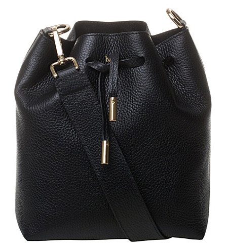 MON PURSE Daily leather bucket bag (Black