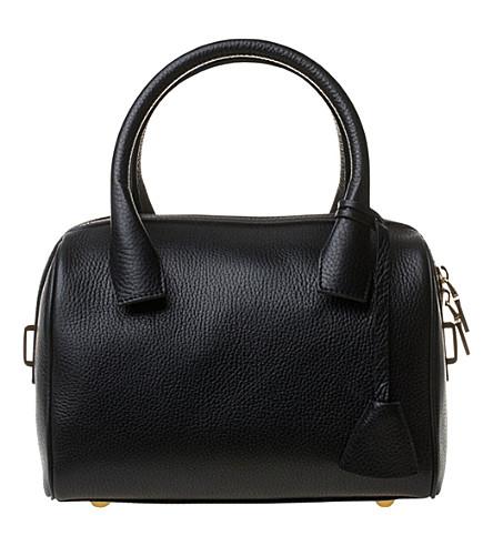 MON PURSE Mini bowler leather bag (Black