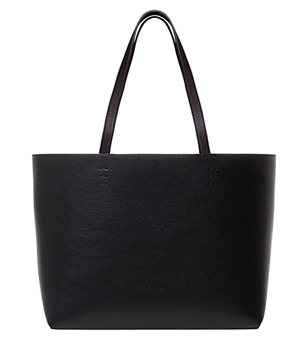 MON PURSE The Matin leather shopper (Black