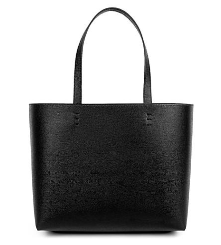 MON PURSE Matin leather shopper (Black