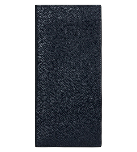 MON WALLET Liberté leather travel wallet (Navy