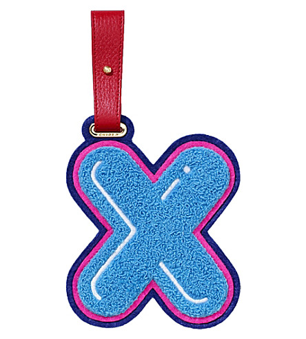 CHAOS X luggage tag (Light+blue